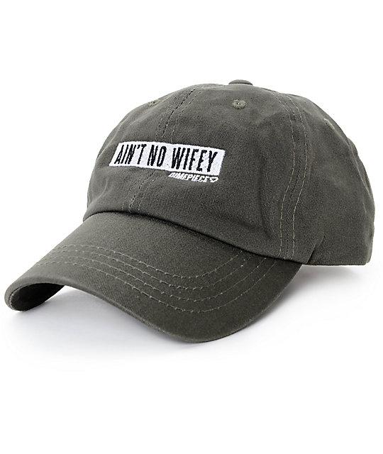 Dimepiece Ain t No Wifey Green Strapback Hat  0e811642364