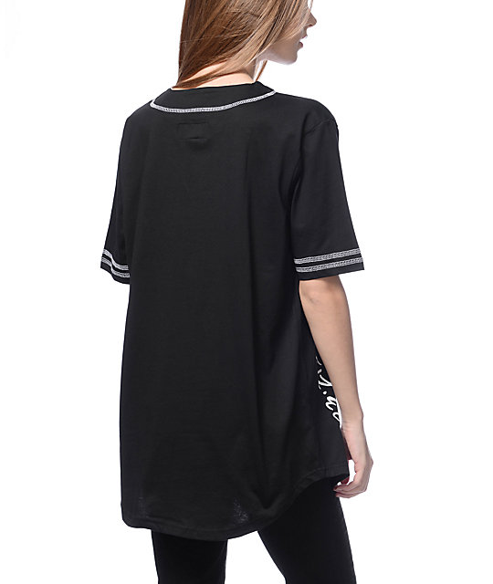 Dimepiece Area Codes Black Baseball Jersey