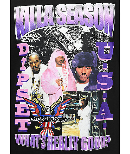 Dipset Killa Season Tour Black T-Shirt