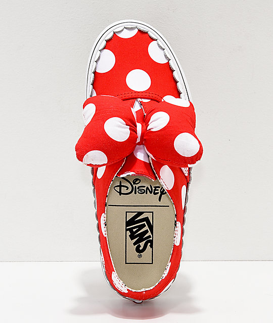 751531dd6f72 ... Disney by Vans Authentic Minnie s Bow Slip-On Skate Shoes ...