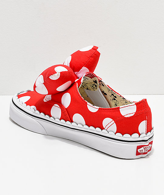 186e9f5f521 ... Disney by Vans Authentic Minnie s Bow Slip-On Skate Shoes ...
