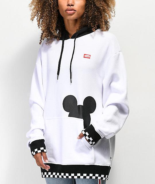 164eaf61fbf Disney by Vans Checkerboard Mickey White   Black Hoodie