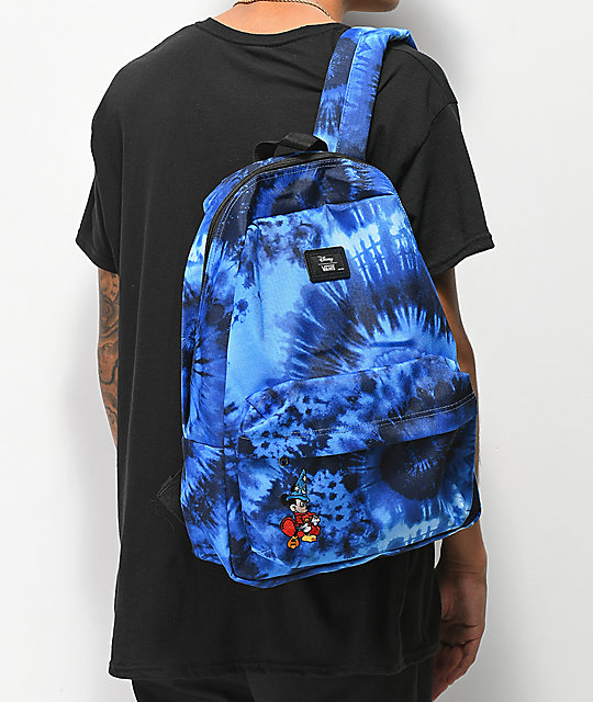 ... Disney by Vans Mickey Fantasia Blue Tie Dye Old Skool II Backpack ... c1f583934f8b4