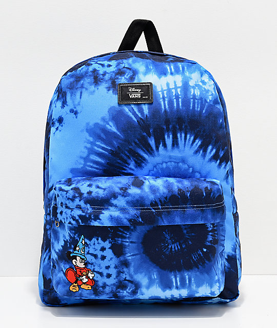 Disney by Vans Mickey Fantasia Blue Tie Dye Old Skool II Backpack ... fecc1e25ed00f