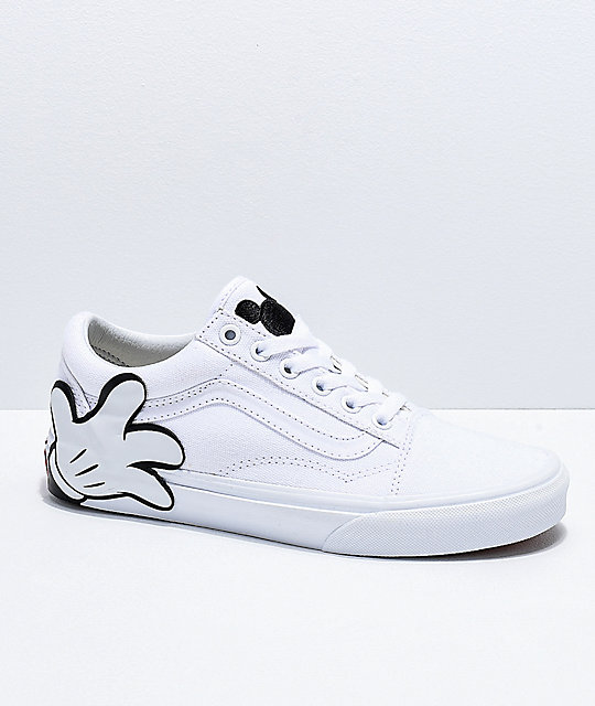 Disney by Vans Mickey Old Skool True White Skate Shoes