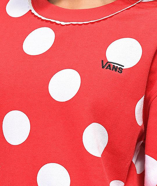 ... Disney by Vans Minnie Red Boxy Crew Neck Sweatshirt 70a17321c