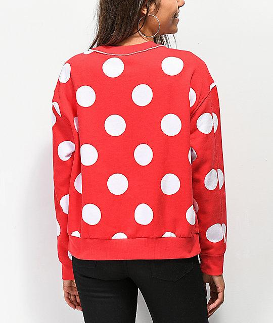 94719b79f3 ... Disney by Vans Minnie Red Boxy Crew Neck Sweatshirt ...