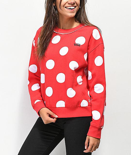 Disney by Vans Minnie Red Boxy Crew Neck Sweatshirt  3e182556c