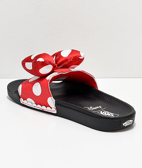 4f91225b8a8e ... Disney by Vans Minnie s Bow Red Slide-On Sandals ...