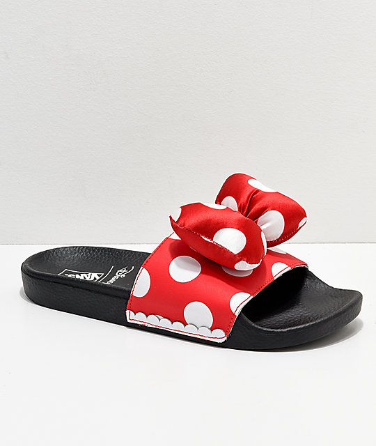 Disney by Vans Minnie s Bow Red Slide-On Sandals  9e2673334