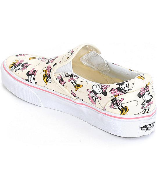 8cec8e6ea0 ... Disney x Vans Classic Minnie Slip-On Shoes ...