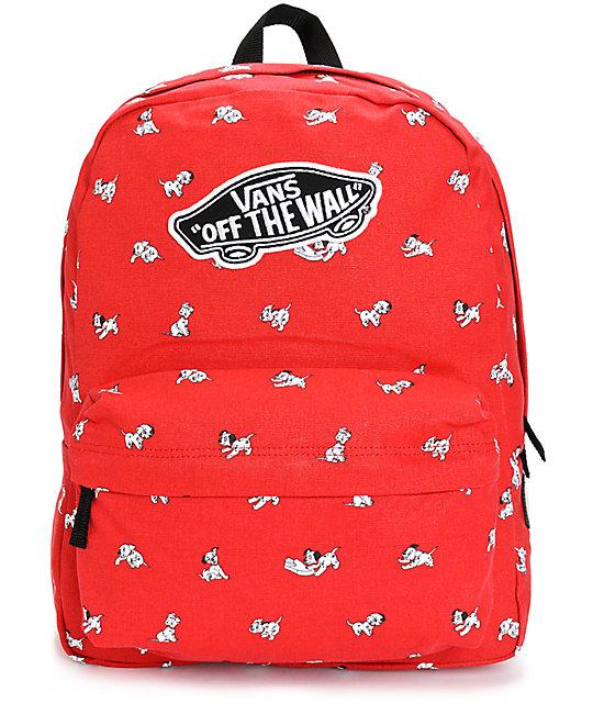 aaf8c0a04b Disney x Vans Dalmatian Red Backpack