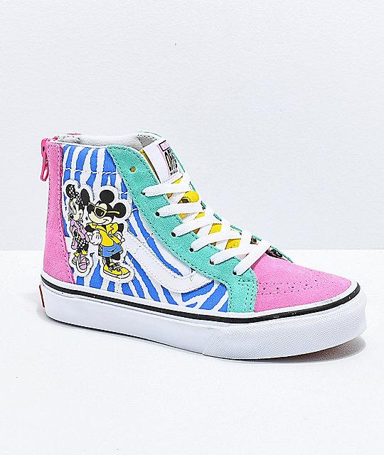 c50a27fa1c4145 Disney x Vans Sk8-Hi 80s Mickey Shoes