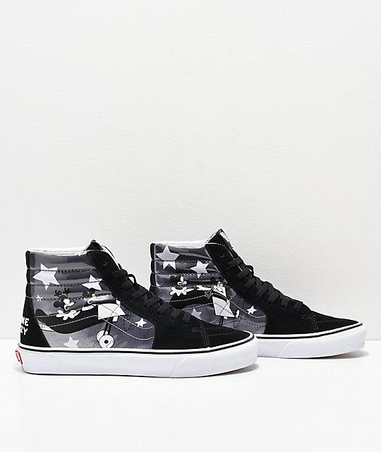 642720170cdcdc ... Disney x Vans Sk8-Hi Mickey Plane Crazy Black   White Shoes ...