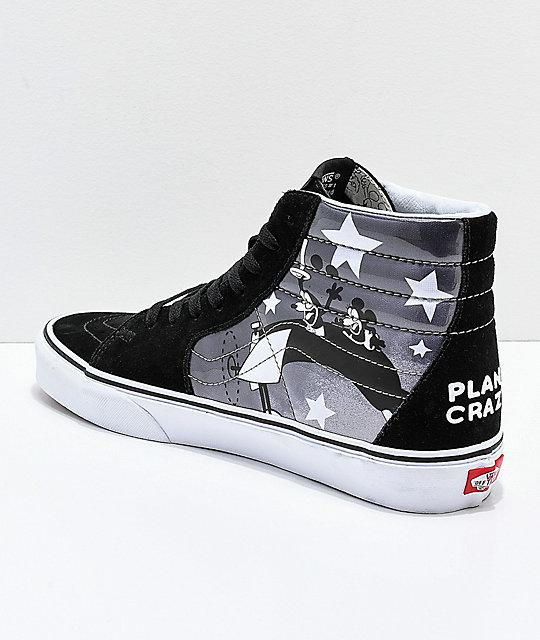 95e7c60535 ... Disney x Vans Sk8-Hi Mickey Plane Crazy Black   White Shoes ...