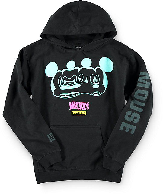 Distorted Mickey Collection By Neff Boys Stretch Hoodie