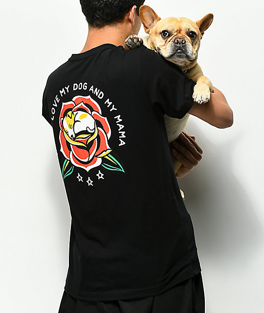 Dog Limited Mama camiseta negra