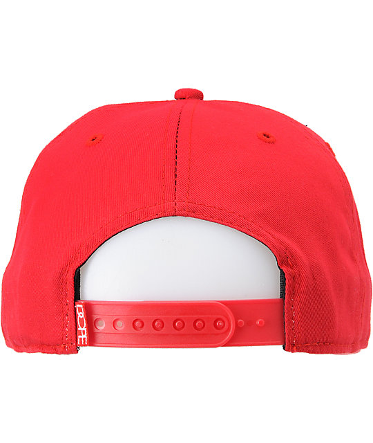Dope Couture Doper Red Snapback Hat