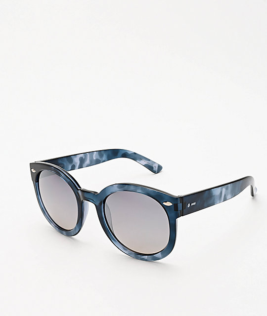 Dot Dash Pool Party gafas de sol de carey azules