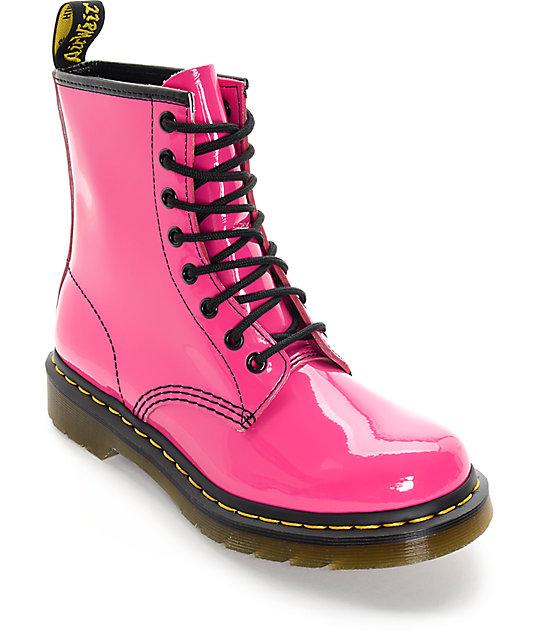 Dr. Marten 1460 Hot Pink Patent Lamper Boots  c910cde9d39b