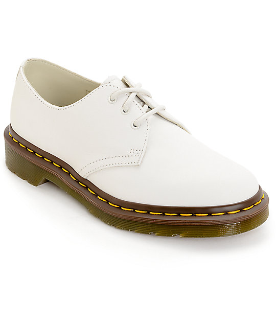 Dr. Martens 1461 Virginia 3 Eye White Shoes ...