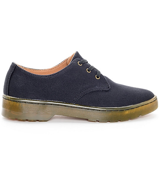 Dr. Martens Gizelle 3 Eye Black Oxford Shoes