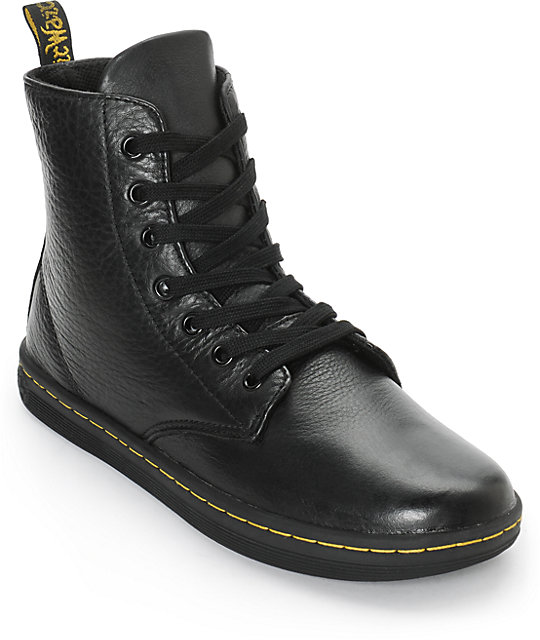 fast color great deals buy good Dr. Martens Leyton Black Leather Boots