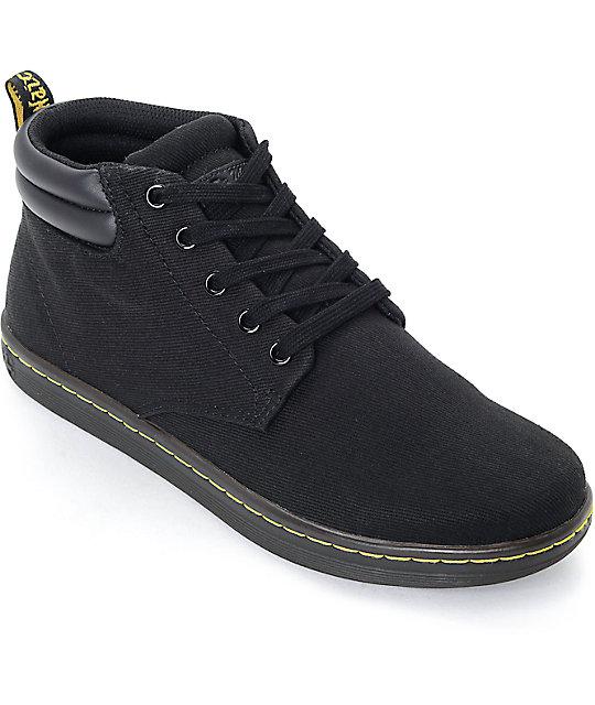 Dr cuello Martens con Maleke acolchado zapatos negros Rw6xUXRqPr