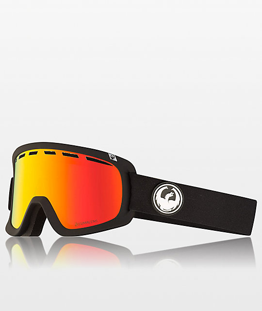 Dragon D1 OTG Black & Red Ion Snowboard Goggles