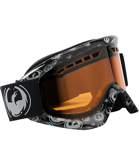 Dragon DX Grey Icon & Amber Snowboard Goggles