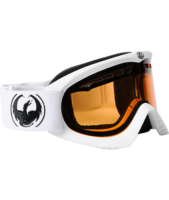 Dragon DX Powder & Amber Snowboard Goggles