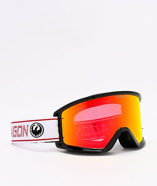 Dragon Dx3 Otg Bantam Red Ion Lumalens Snowboard Goggles Zumiez