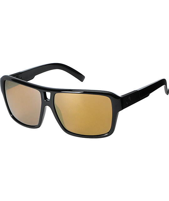 Dragon The Jam Black & Gold Sunglasses