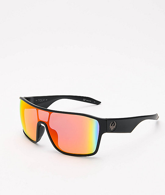 Dragon Tolm Matte Black Red Ion Sunglasses