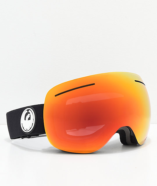 Dragon X1 Black & Red Ion gafas de snowboard