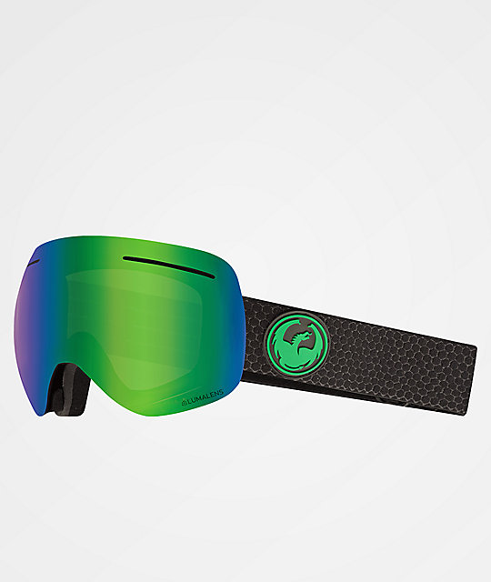 Dragon XI Split Green Ion gafas de snowboard