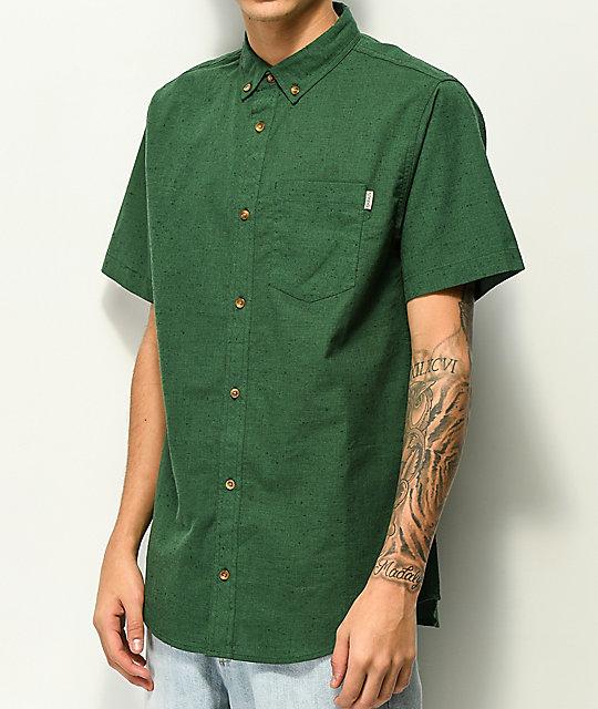 1a725852716 Dravus Alvin camisa verde de manga corta ...