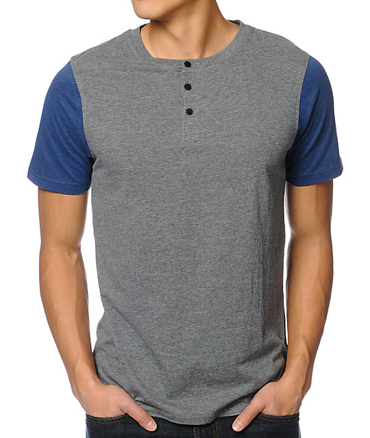 Dravus Ball Park Grey Henley T-Shirt