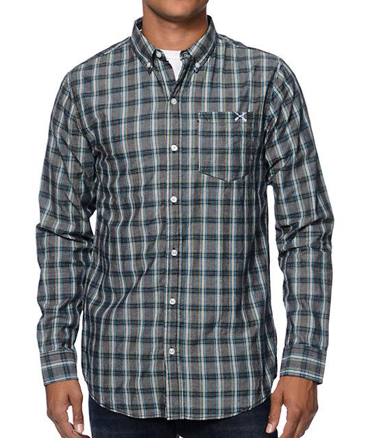 344c88b1152 Dravus Bank Black Plaid Long Sleeve Button Up Shirt | Zumiez
