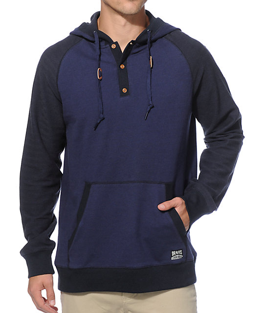 Dravus Big Leaf Herringbone Hooded Henley Shirt