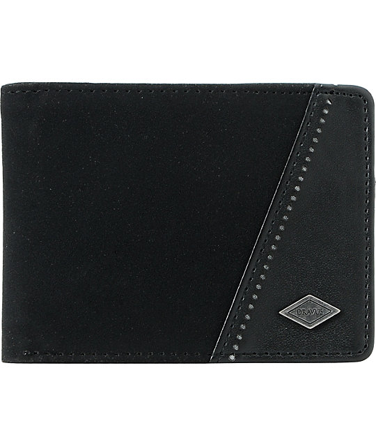 Dravus Brogue Hero Black Bifold Wallet