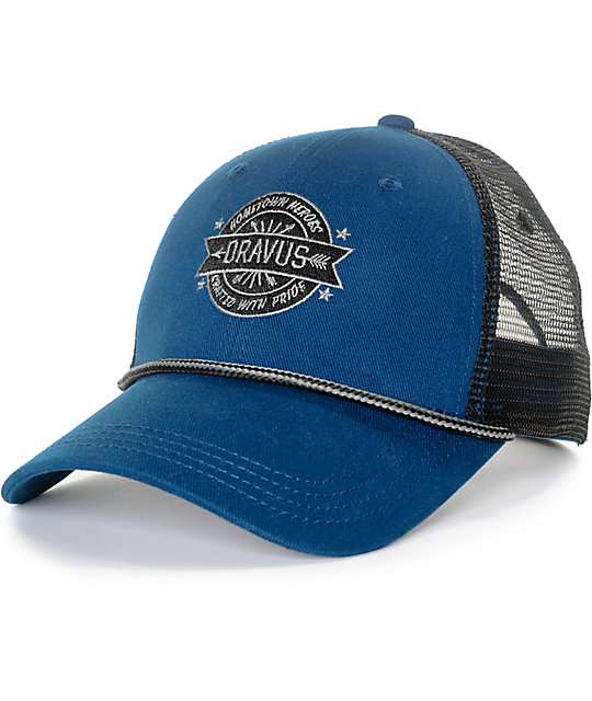 Dravus Burch Blue Snapback Hat