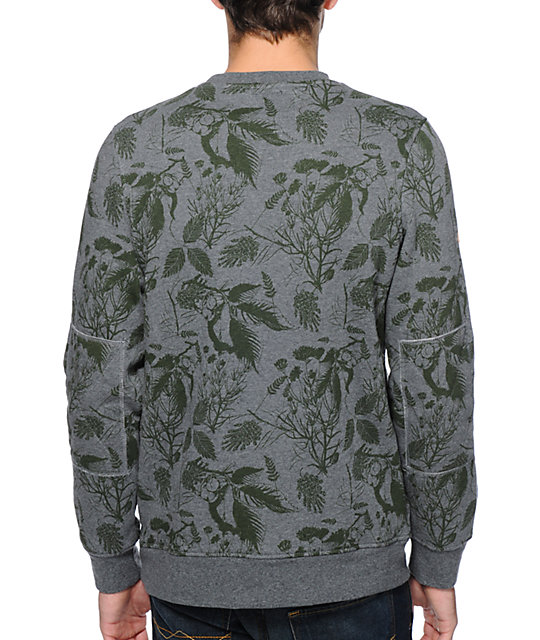 Dravus Castro Green Botanical Crew Neck Sweatshirt