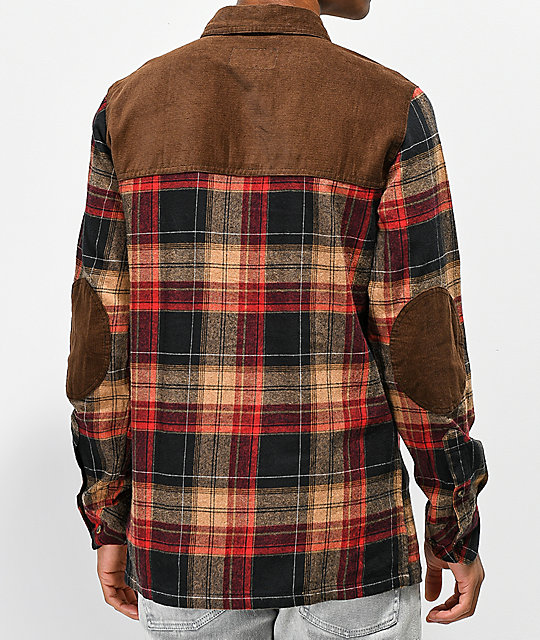 Dravus Cloverdale Brown Flannel Shirt