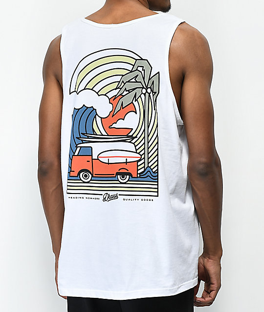Dravus Coastal Vibes White Tank Top