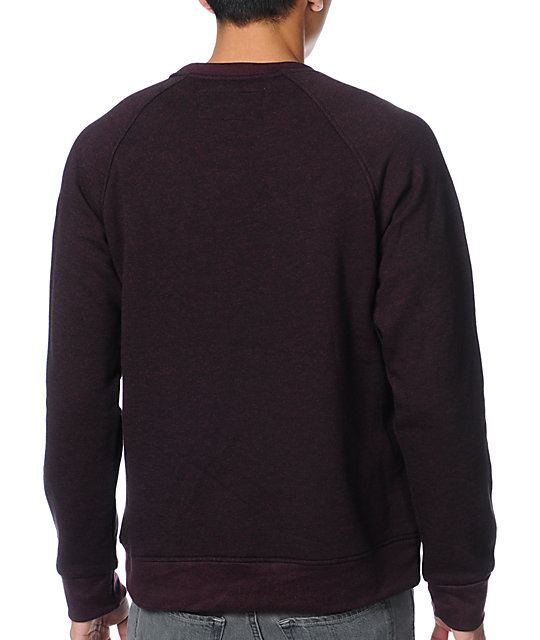 Dravus Edison Red Speckle Fleece Crew Neck Sweatshirt