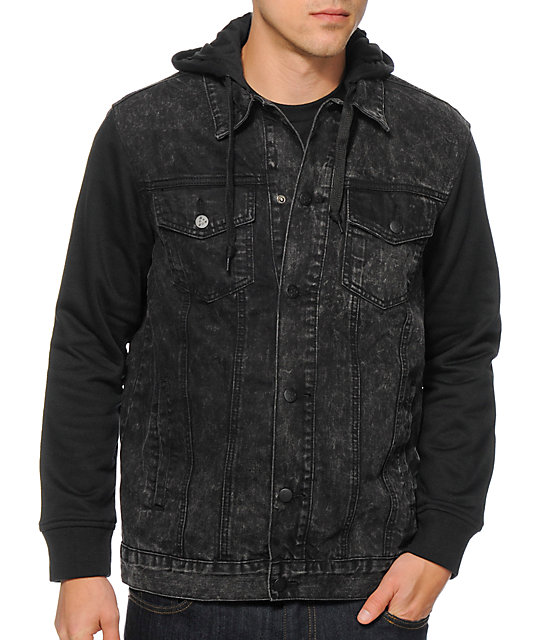 top-rated newest great variety styles lovely design Dravus Electric Denim Vest Hoodie