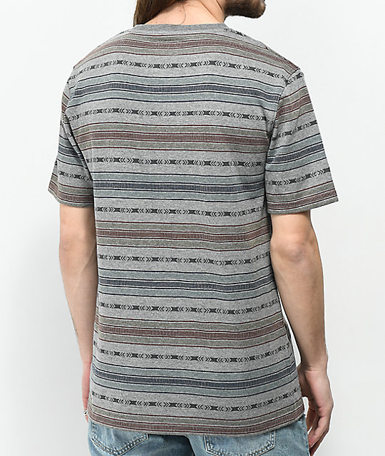 Dravus Forest Jacquard Stripe Knit T-Shirt