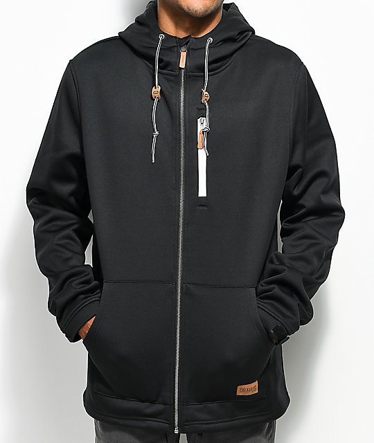 Dravus Grays Tech Fleece Black Zip Up Hoodie
