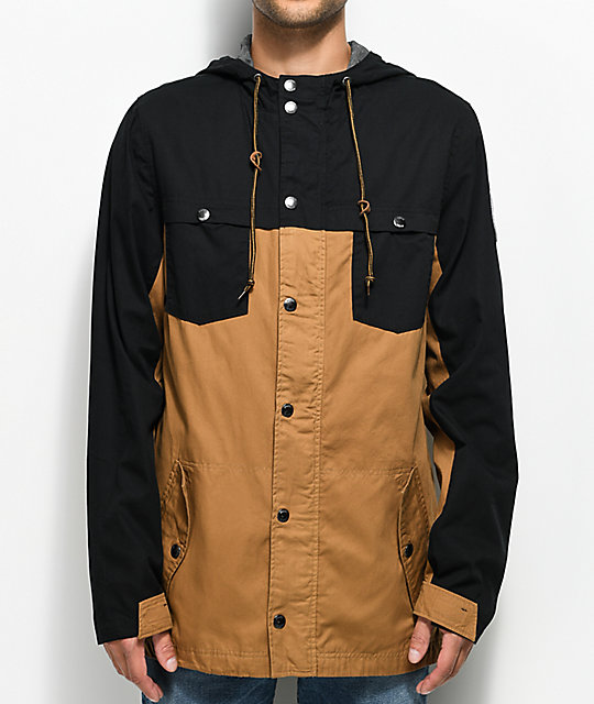 Dravus Hercules Black & Tobacco Twill Jacket